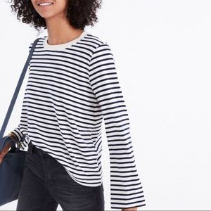 Madewell rivet & thread bell-sleeve tee